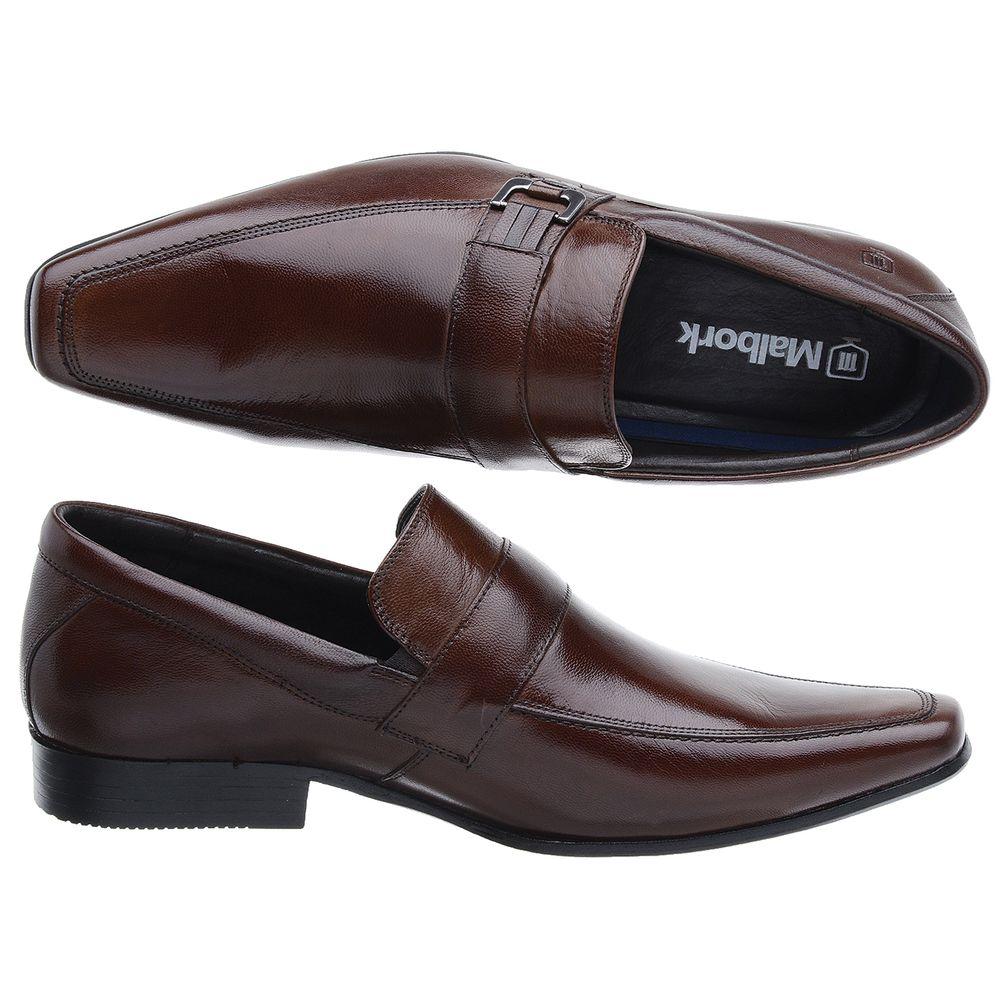 25218dd178 FKV Calçados · Masculino · Sapato. Sapato-Social-Masculino-Couro-Pelica -Marrom-Sola-Couro-