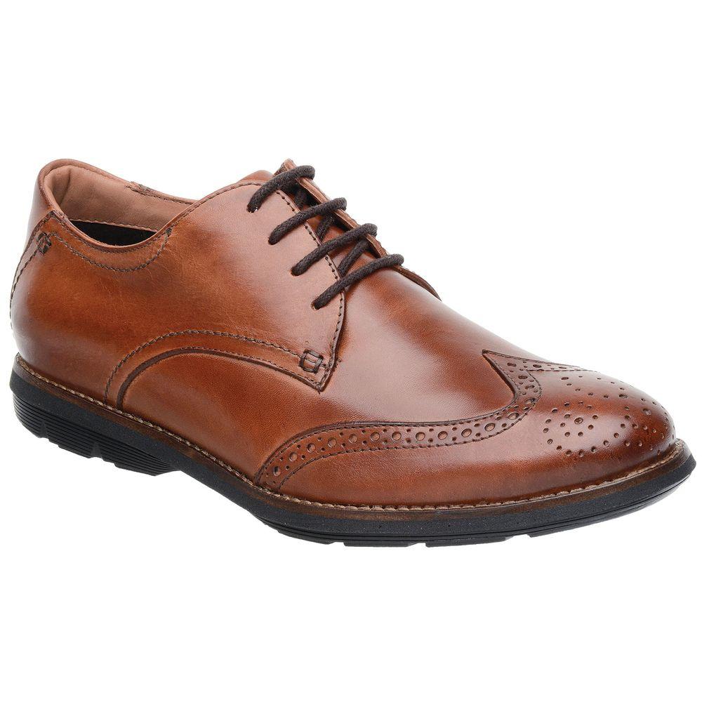 05fb7db51 Sapato Oxford Malbork Couro Natural Caramelo Solado Extreme Comfort ...