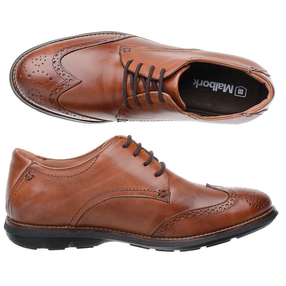 06fe585a13 Sapato Oxford Malbork Couro Natural Caramelo Solado Extreme Comfort ...