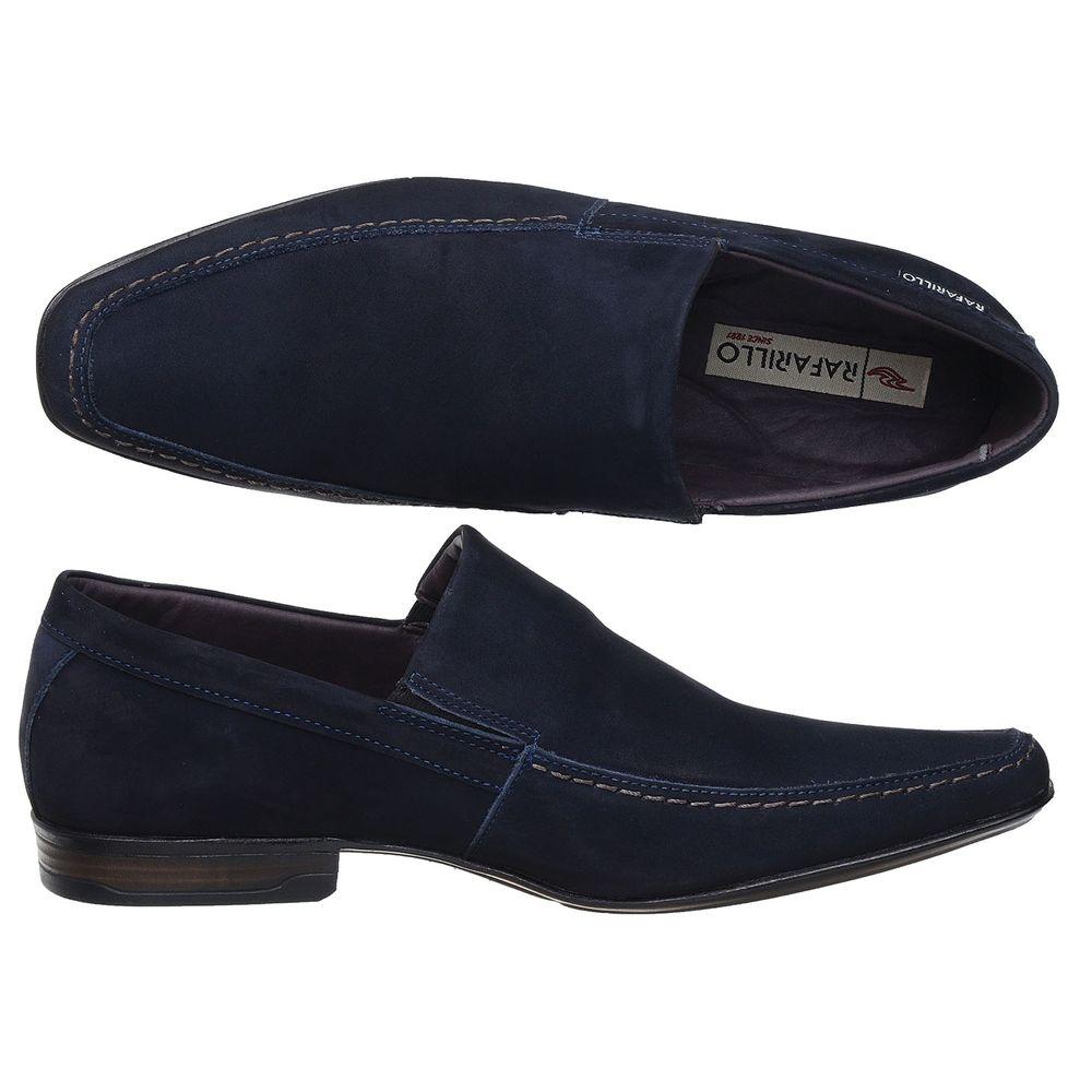 2c703b87fb Sapato Rafarillo em Couro Nobuck Azul Marinho Liso - FKV Calçados
