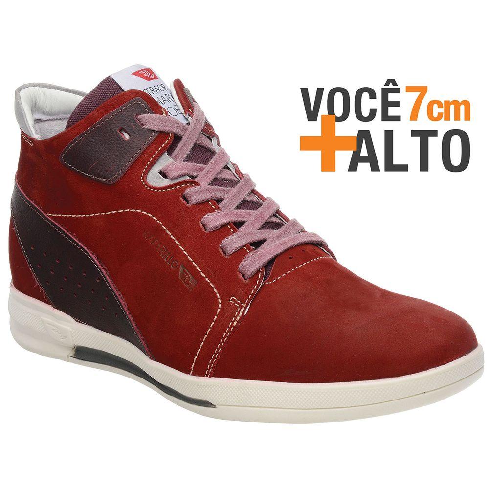 03720e93d9b Sapatênis Rafarillo Linha Alth Você + Alto 7cm 4701 Vermelho - FKV ...