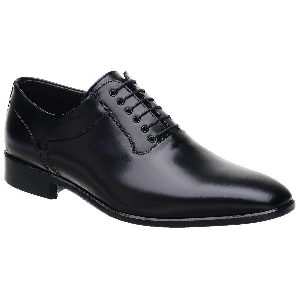 69ff0504c5 Sapato Social Malbork em Couro Preto com Cadarço LI-08 - FKV Calçados