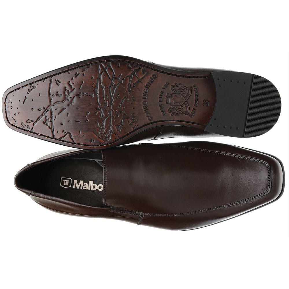 27c58a277e Sapato Social Malbork em Couro de Carneiro Café 014-914 - FKV Calçados