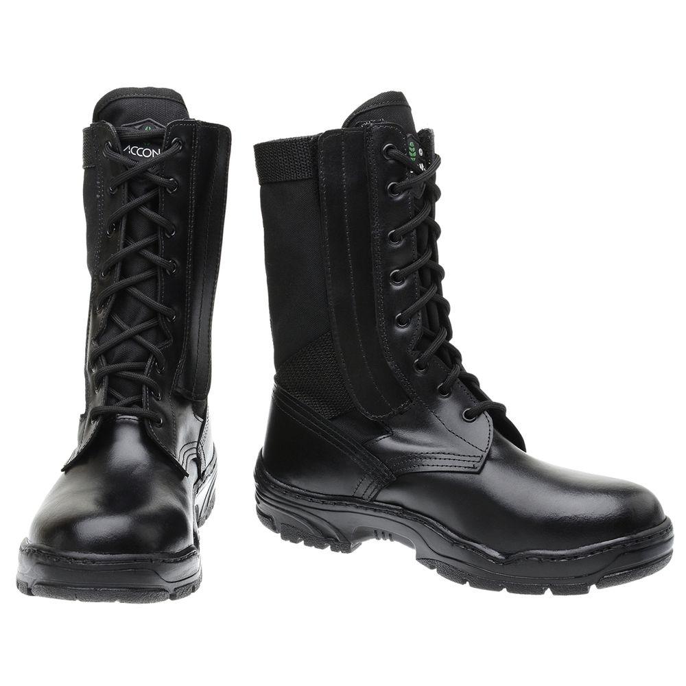 e4e91742f2 Bota Militar Accona em Couro e Lona Cano Médio CLZ200 - FKV Calçados
