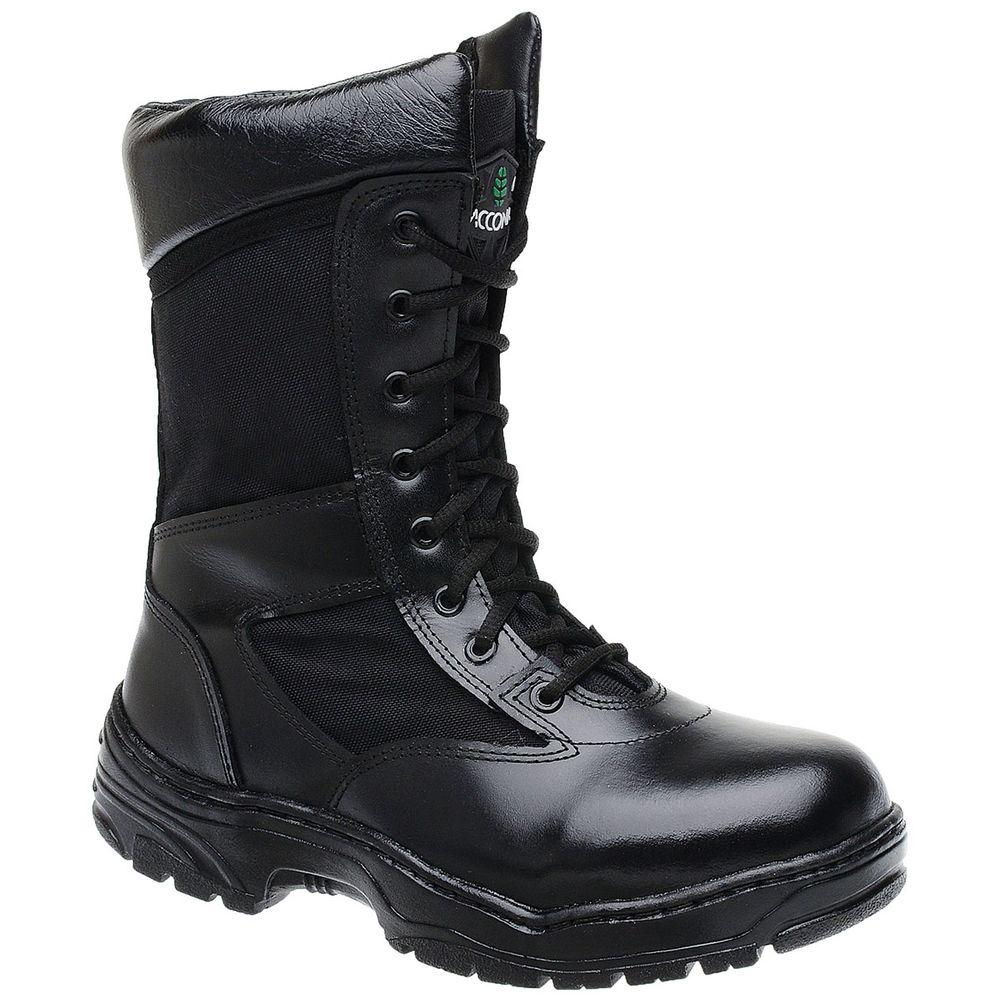 072df0141 Bota Militar Accona em Couro e Lona Cano Médio CTT308 - FKV Calçados