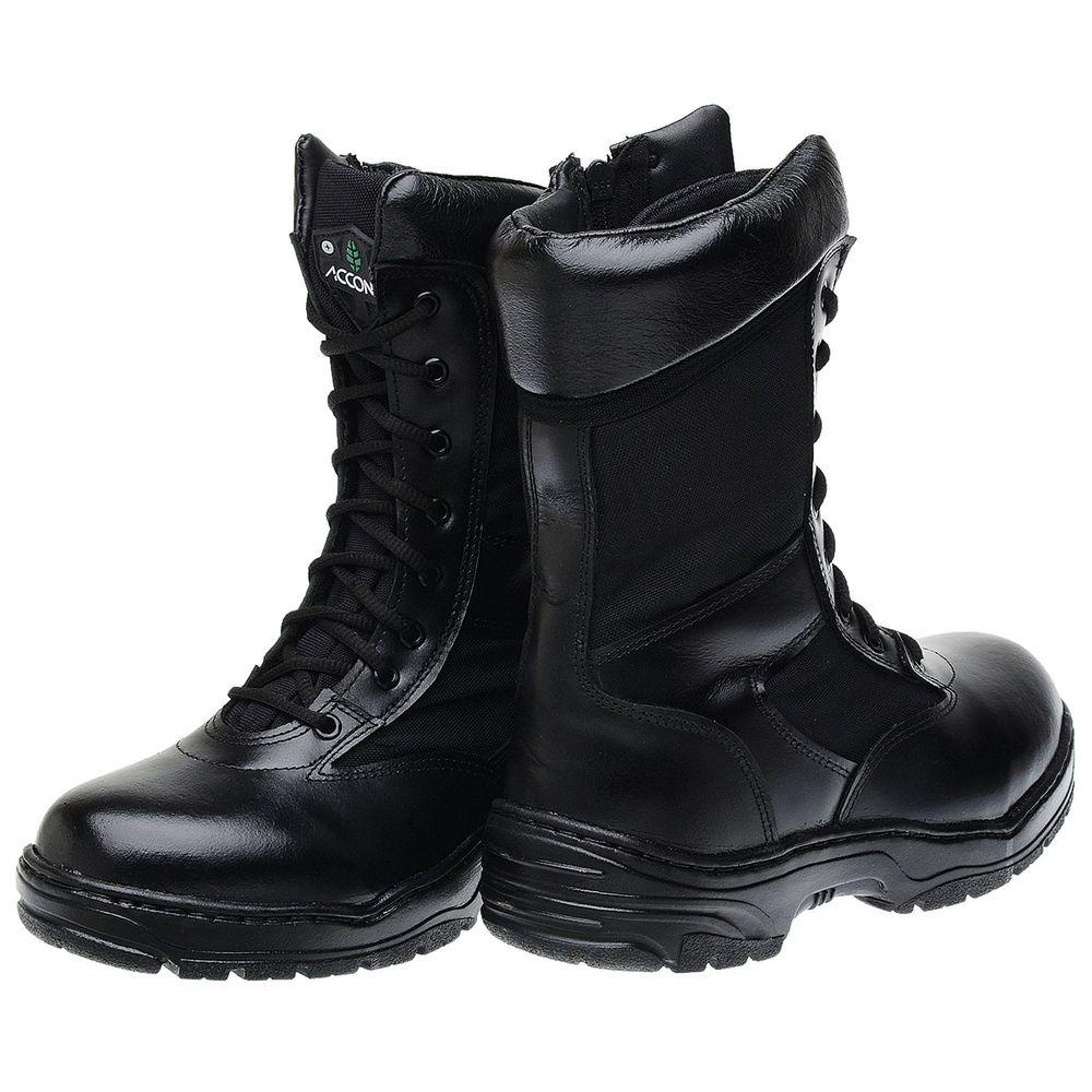 b66a231a06 Bota Militar Accona em Couro e Lona Cano Médio CTT308 - FKV Calçados