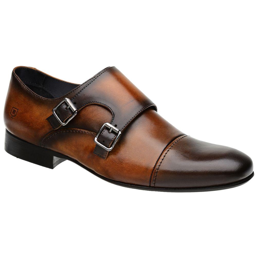 7da30690f Sapato Monk Masculino Malbork em Couro Caramelo 60434 - FKV Calçados