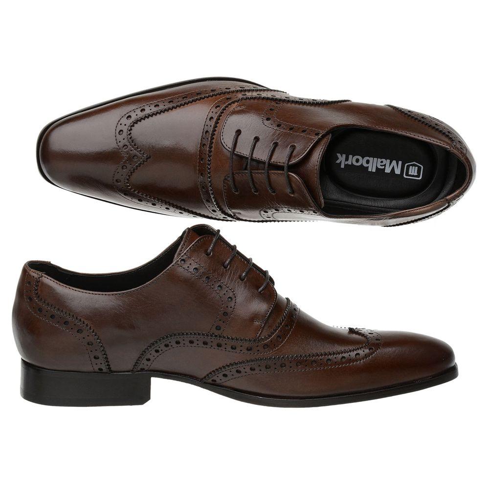 7aff18470 Sapato Oxford Masculino Malbork em Couro Marrom 60053 - FKV Calçados