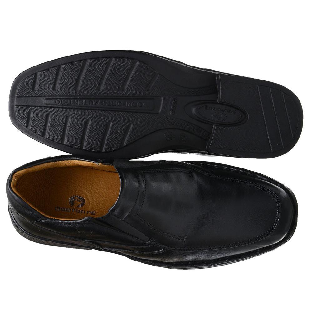5ae129be0 Sapato Doctor Pé Conforto Autêntico Couro de Carneiro Preto 77001 ...