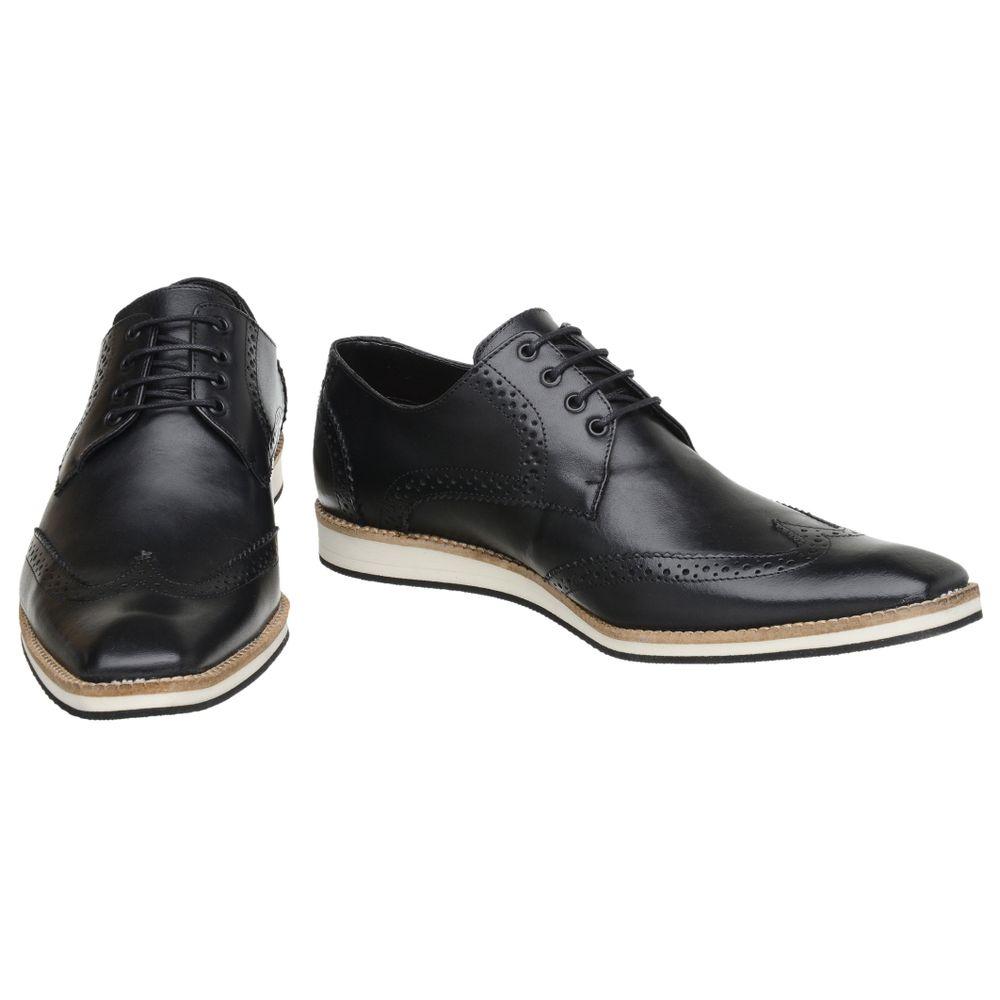 ca245883ec Sapato Oxford Masculino Malbork em Couro Preto 516 - FKV Calçados