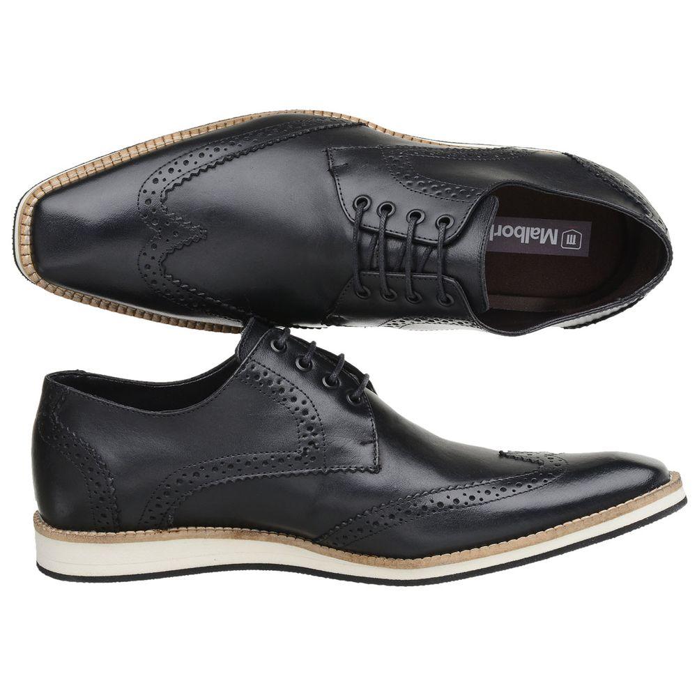 256d46abb Sapato Oxford Masculino Malbork em Couro Preto 516 - FKV Calçados