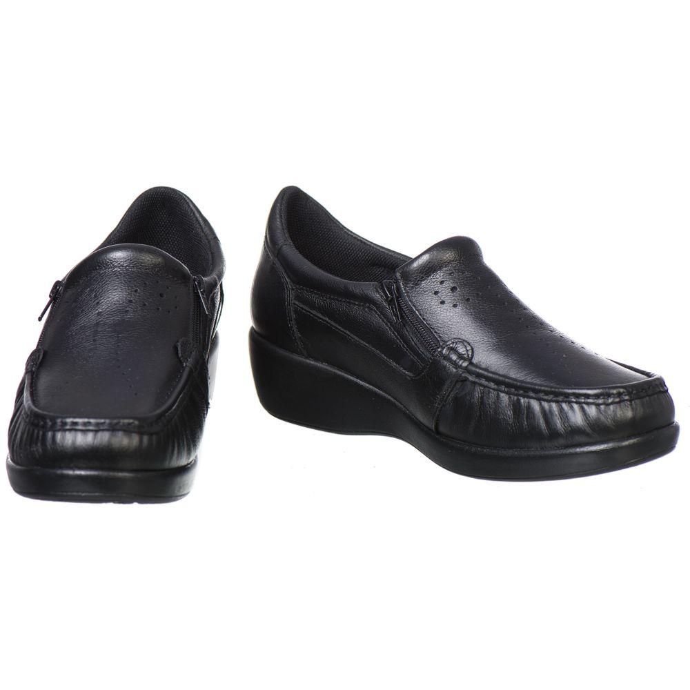 2fd212753c Sapato Feminino Doctor Pé Conforto em Couro Preto 6868 - FKV Calçados