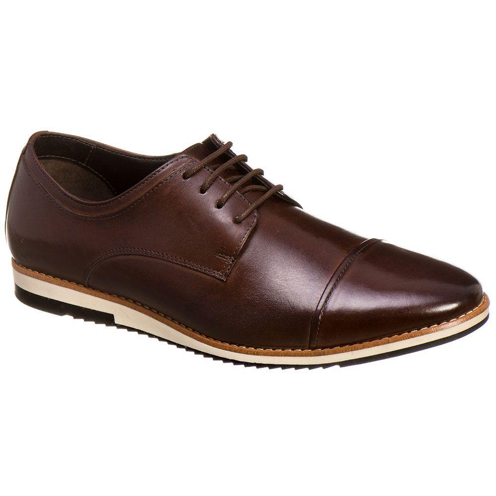 a7c9d4971e3c7 Sapato Casual Masculino Malbork em Couro Marrom 24515 - FKV Calçados