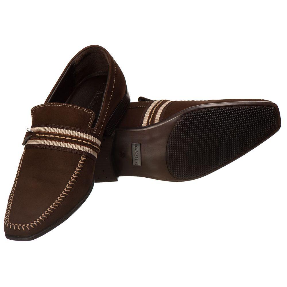 5d8e1d1880 Sapato Masculino Malbork Couro Café Solado Borracha 915 - FKV Calçados
