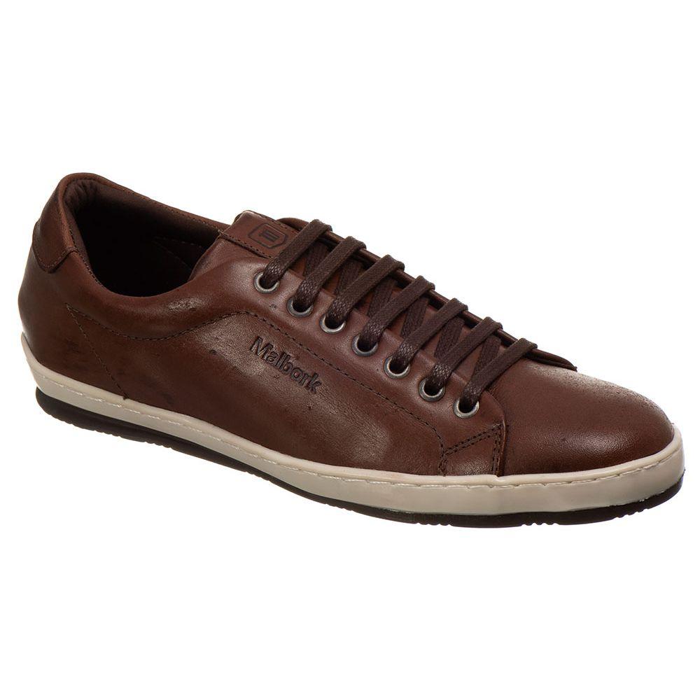 336a18317d Sapatênis masculino malbork em couro marrom 812001 - FKV Calçados
