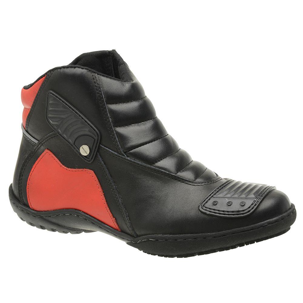 Bota-Motociclista-Em-Couro-Preto-E-Vermelho-Cano-Baixo-E-Solado-Baixo-19092-01