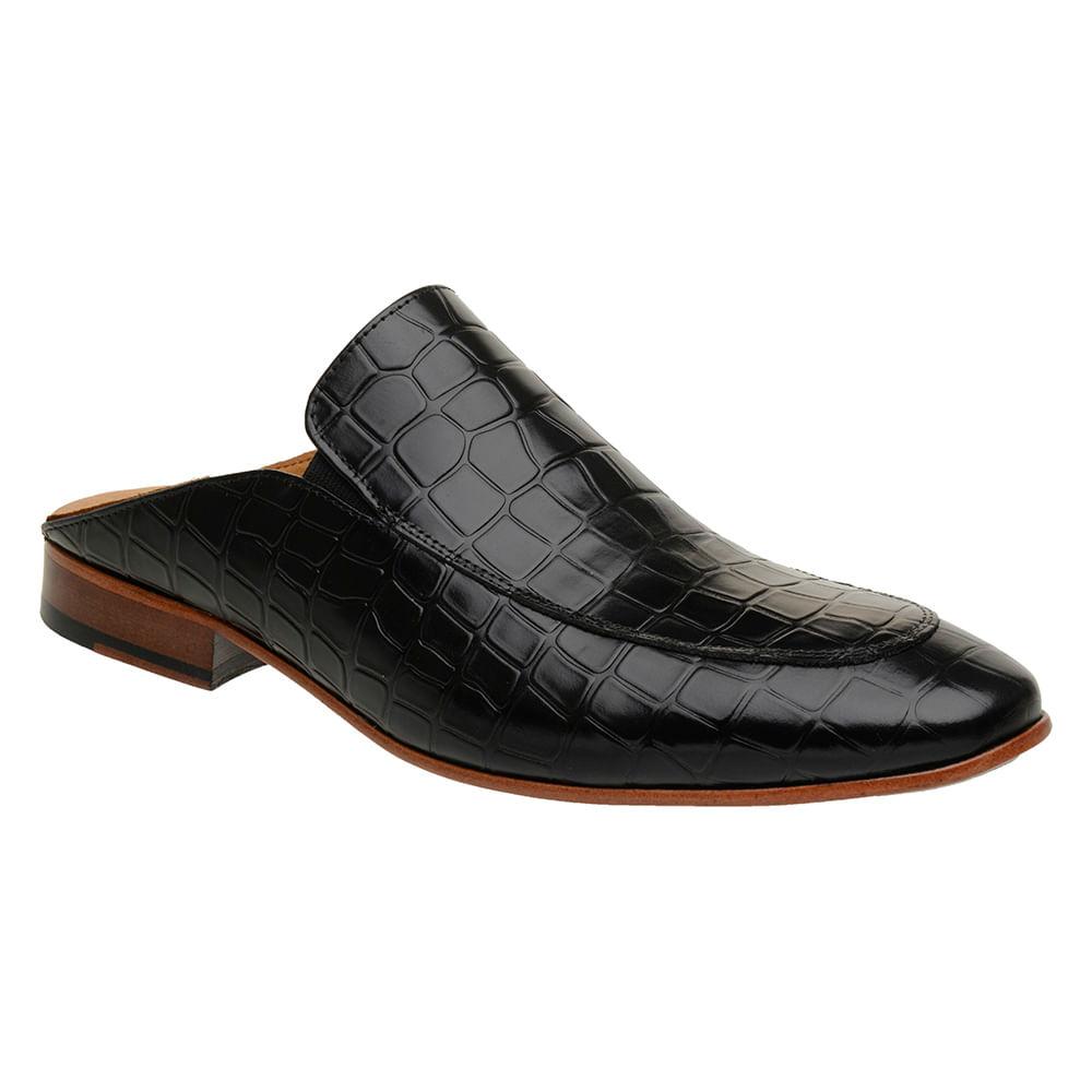 Sapato-Masculino-Slipper-Mule-Malbork-Couro-Croco-Preto-5845-01